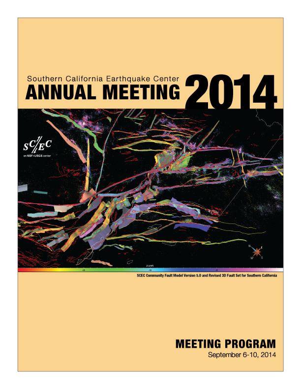 2014 SCEC Program