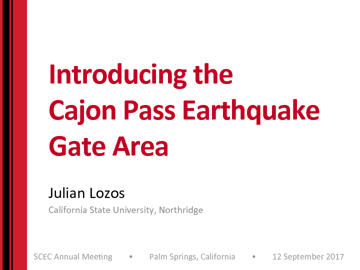 Introducing the Cajon Pass Earthquake Gate Area | Southern